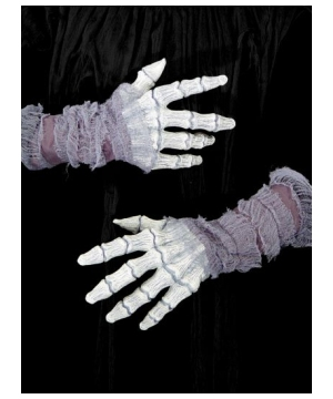 Hands Gauze Ghostly Bones Adult Gloves