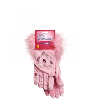 Short Gloves With Marabou