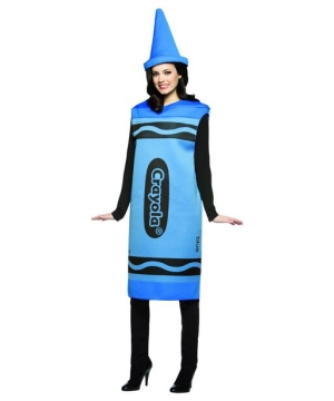 Blue Crayola Crayon Female Costume - Adult Costume