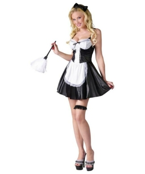 Adult Flirty French Maid Sexy Costume - Women Costumes