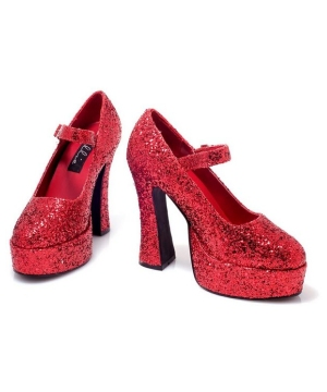 Sexy Red Glitter Eden Adult Shoes