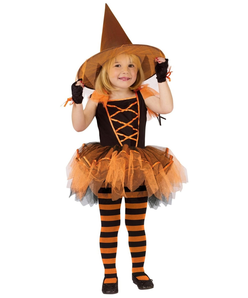 witch ballerina halloween toddler costume - girls' disney costumes