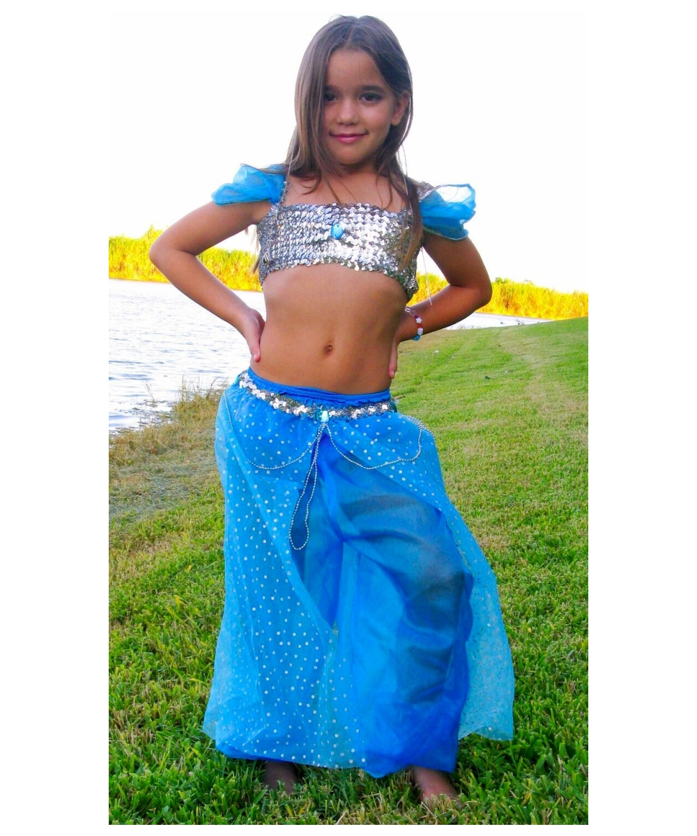 sc 1 st  Halloween Costumes & Blue Magic Genie Kids Costume - Girls Genie Costumes