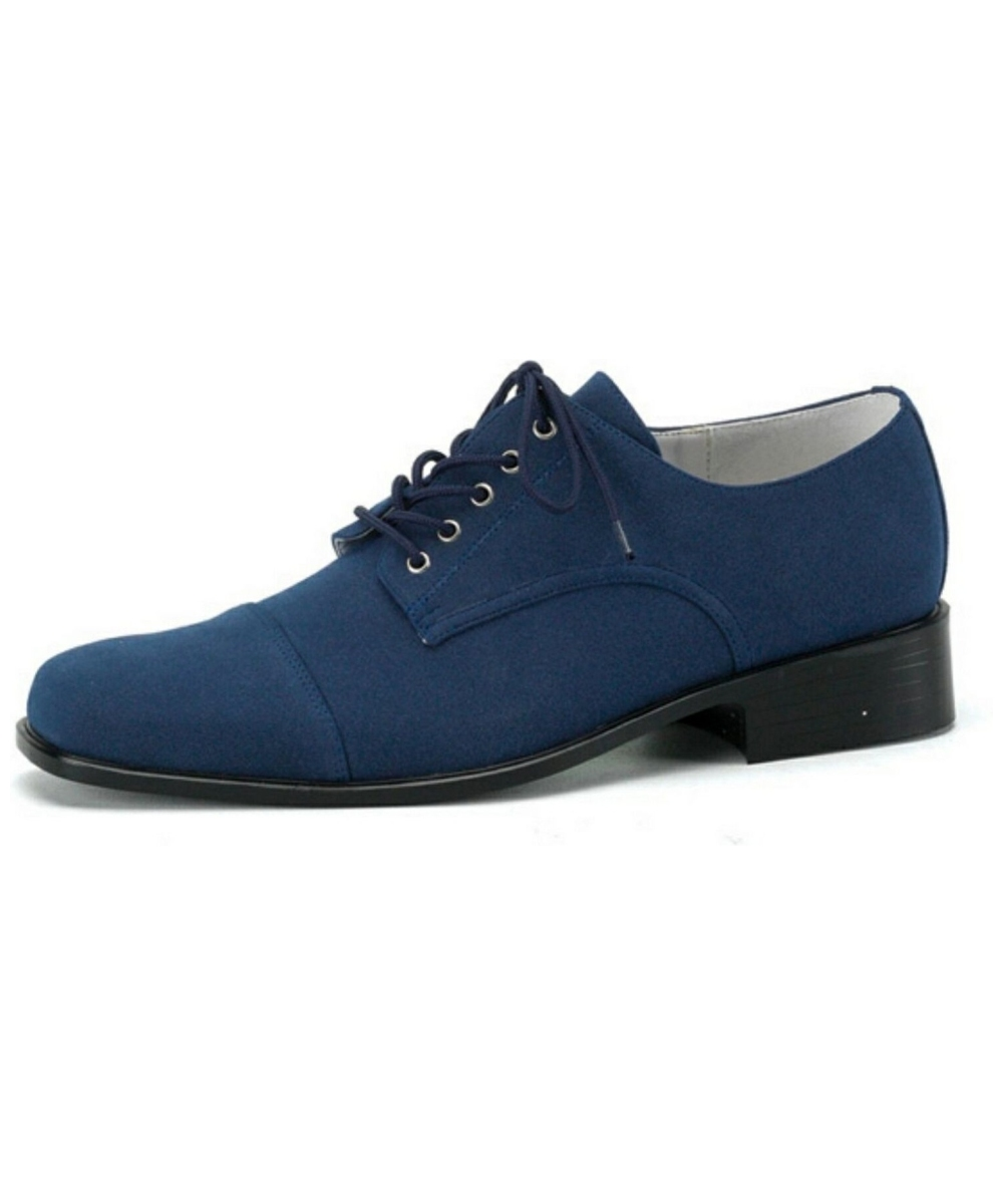 Adult Blue Suede Halloween Shoes Men Costume