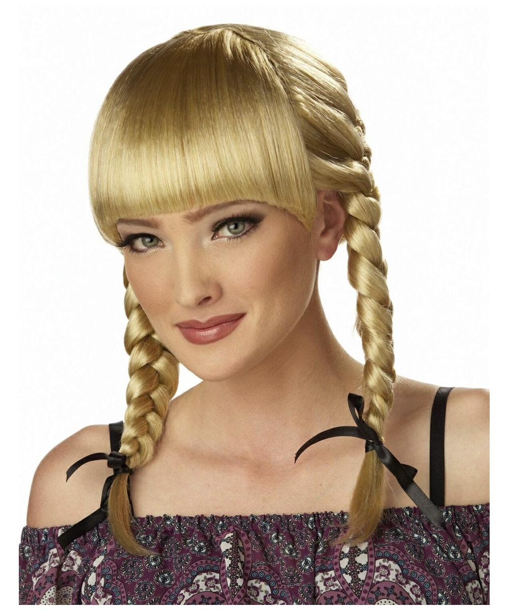 Bohemian Braids Blonde Adult Accessory At Wonder Costumes