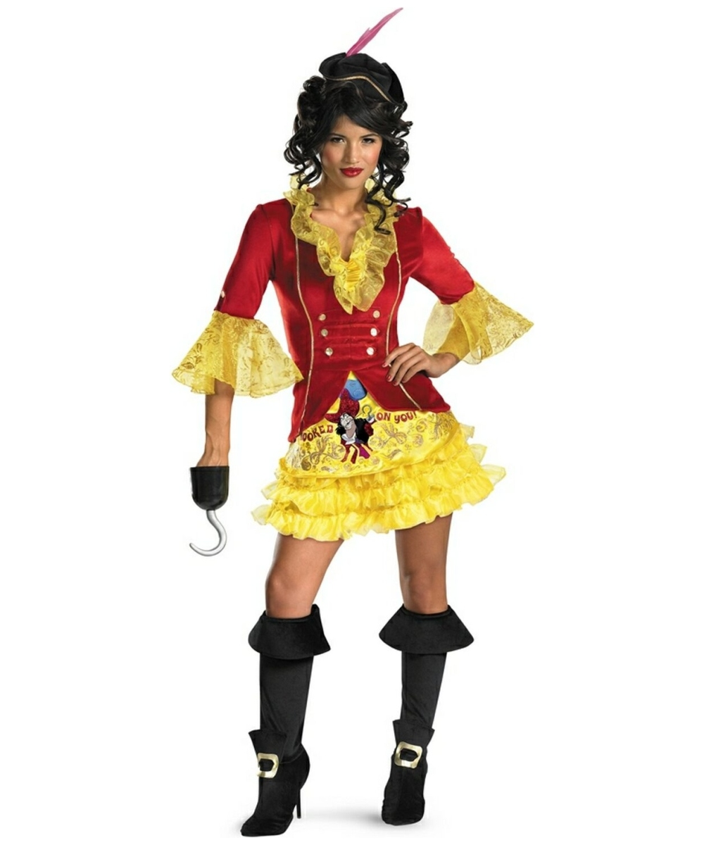f2cb31aaf Adult Sassy Captain Hook Disney Costume - Women Costumes