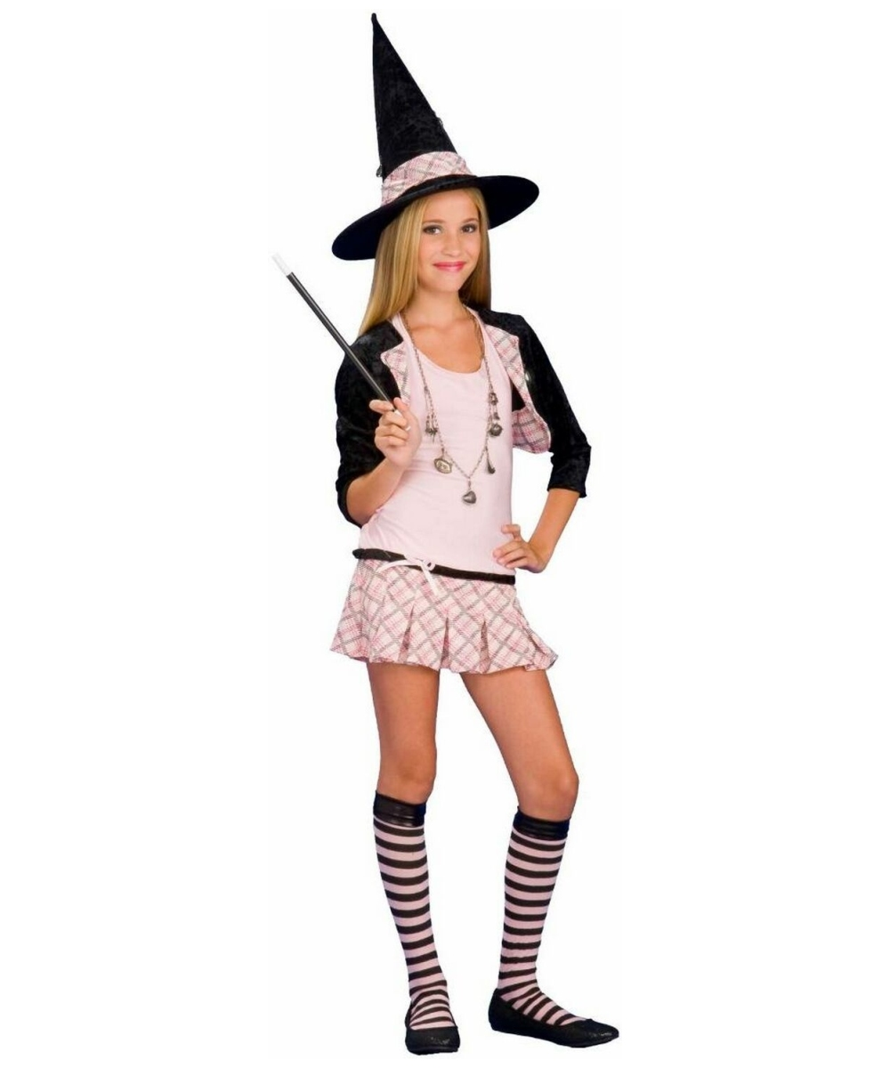 Charm School Witch Teen Costume  sc 1 st  Wonder Costumes & Witch Teen Charm School Girls Costume - School Girl Costumes