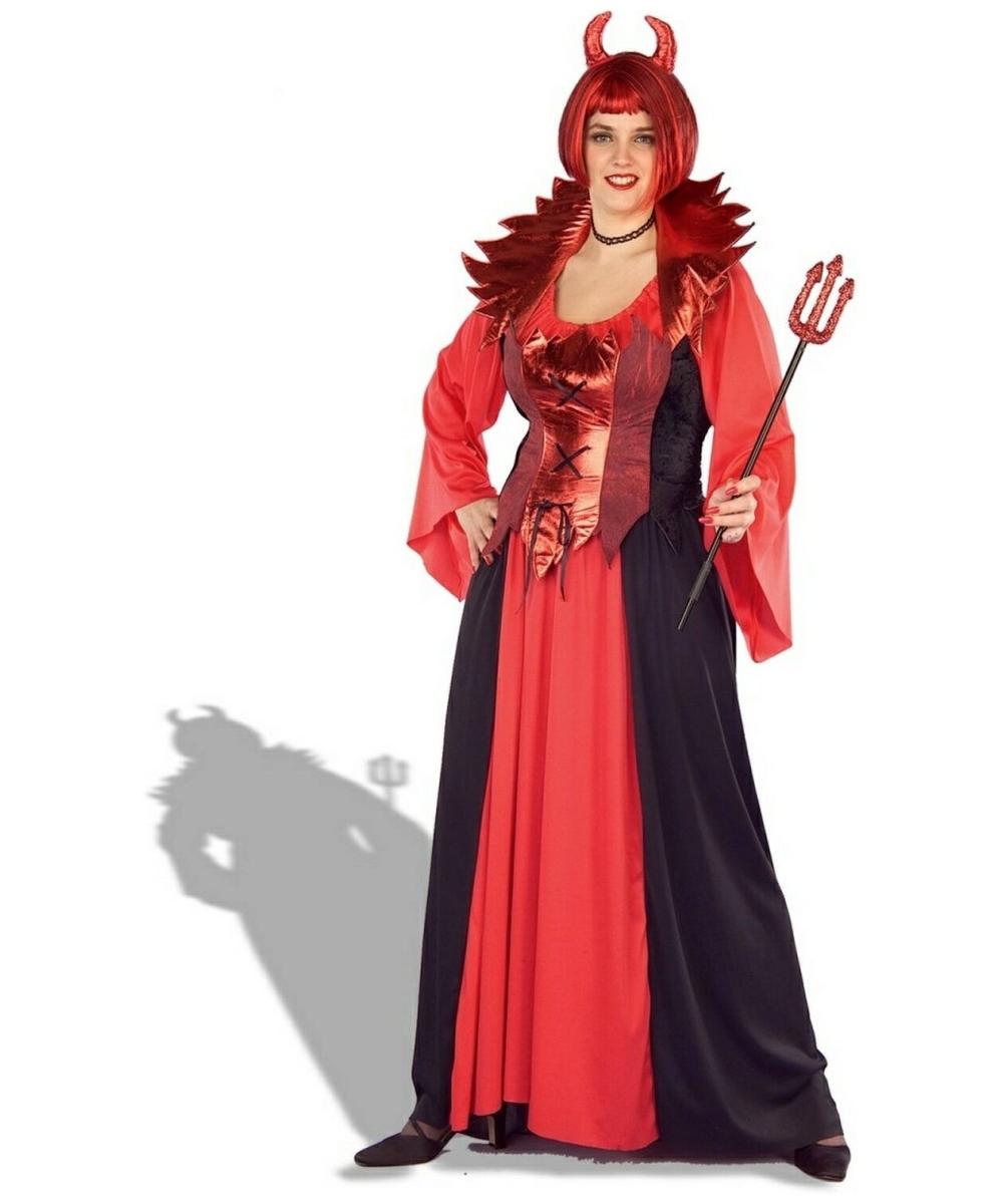Devil Queen Costume - Adult Plus Size Costume - Devil Halloween Costume at Wonder Costumes  sc 1 st  Halloween Costumes & Devil Queen Costume - Adult Plus Size Costume - Devil Halloween ...