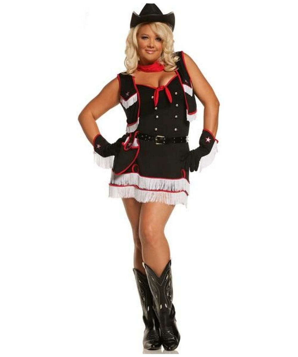 sc 1 st  Wonder Costumes & Adult Dirty Desperado plus size Cowgirl Costume - Women Costumes