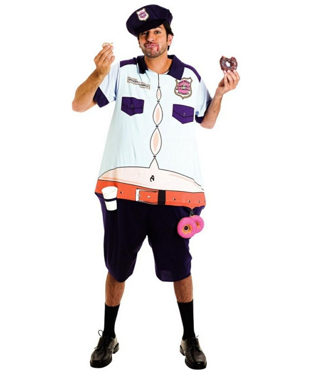 sc 1 st  Wonder Costumes & Adult Donut Police Officer Costume - Men Police Officer Costumes