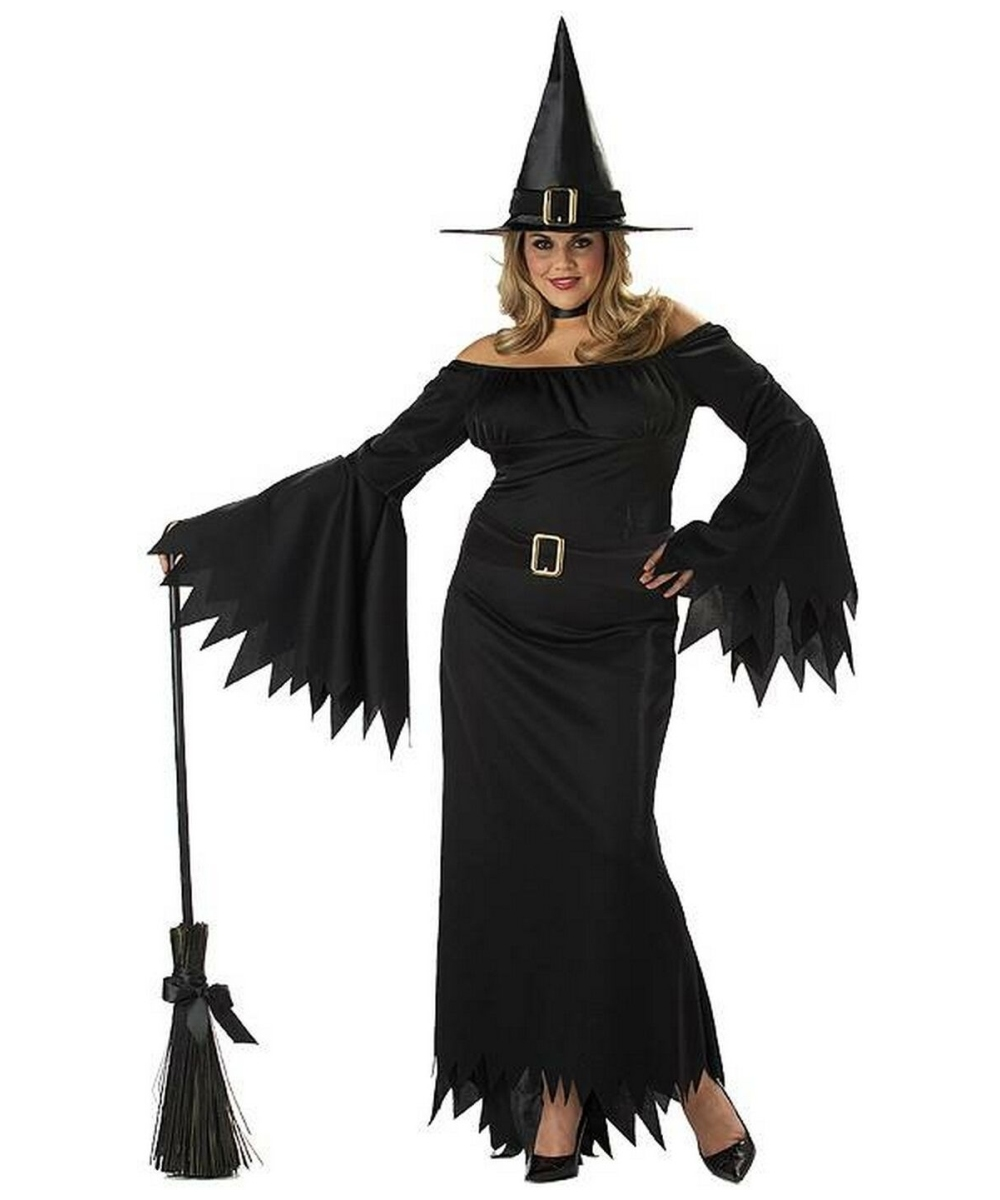 witch elegant adult costume plus size witch halloween costumes. Black Bedroom Furniture Sets. Home Design Ideas