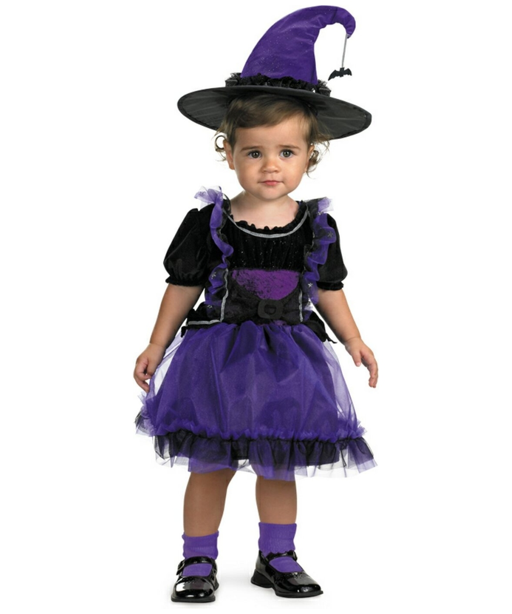 Frilly Witch Baby Halloween Costume - Girls Witch Costumes