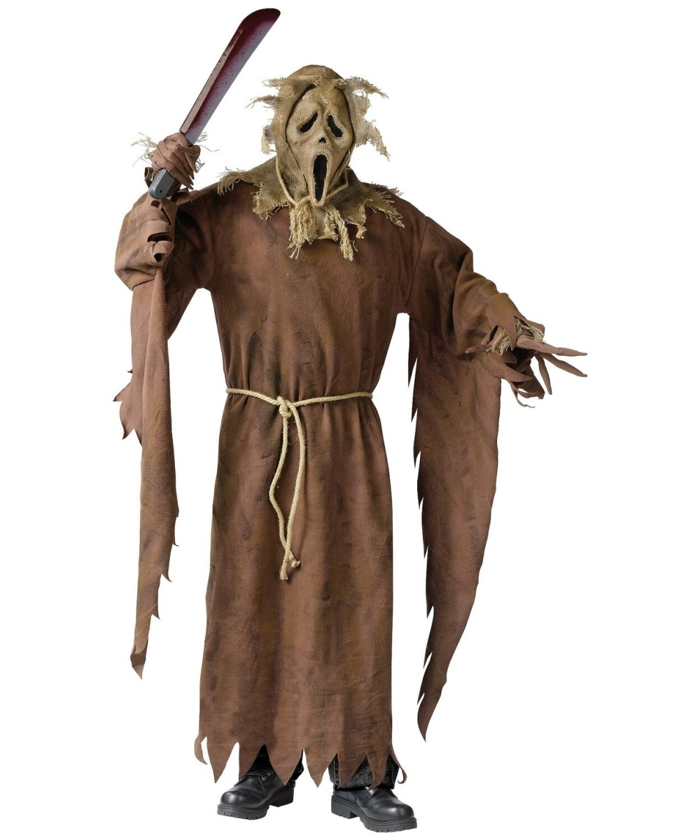 Scarecrow Face Movie Adult Costume Costumes