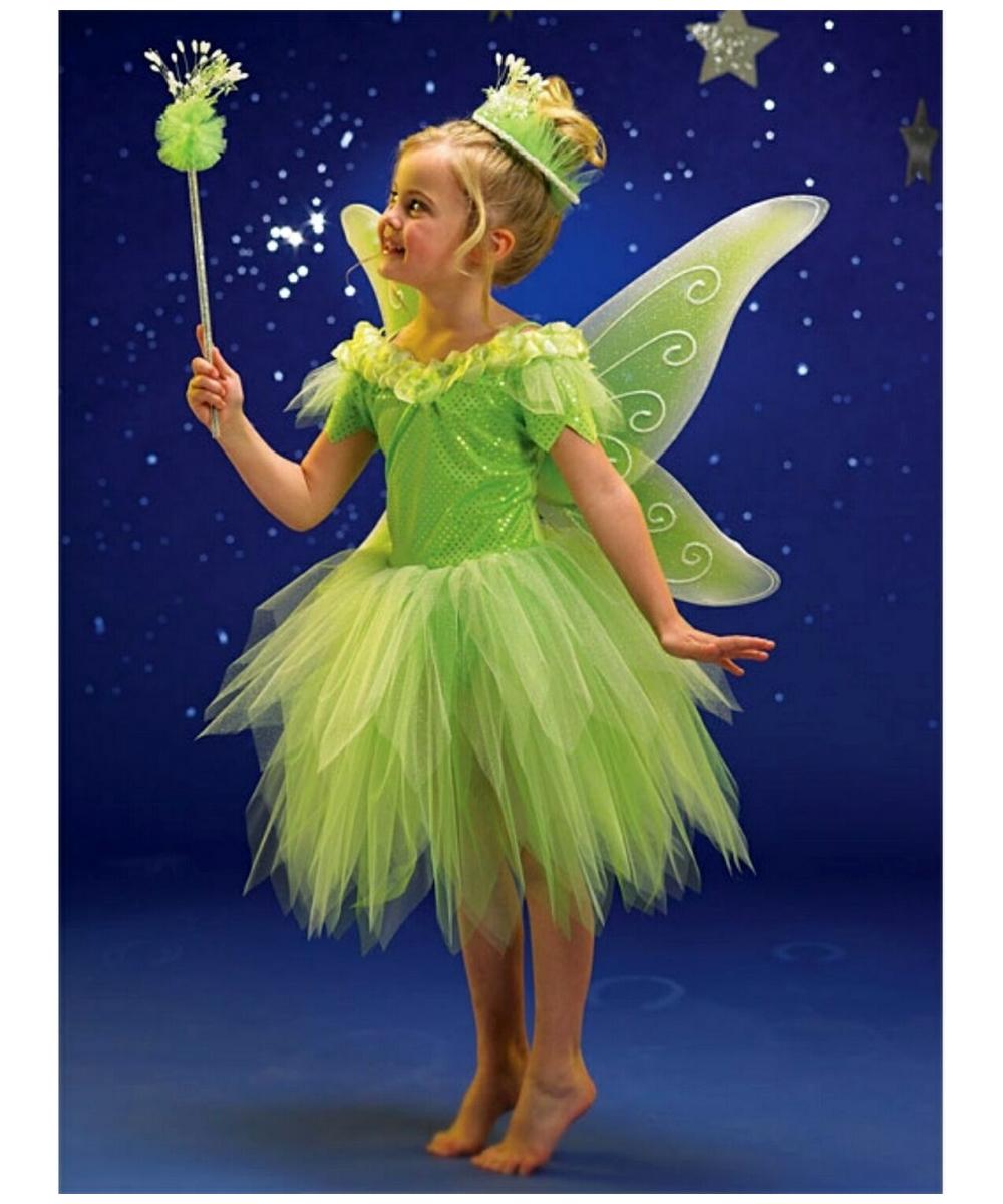 sc 1 st  Halloween Costumes & Kids Green Fairy Disney Girl Costume - Girls Fairy Costumes