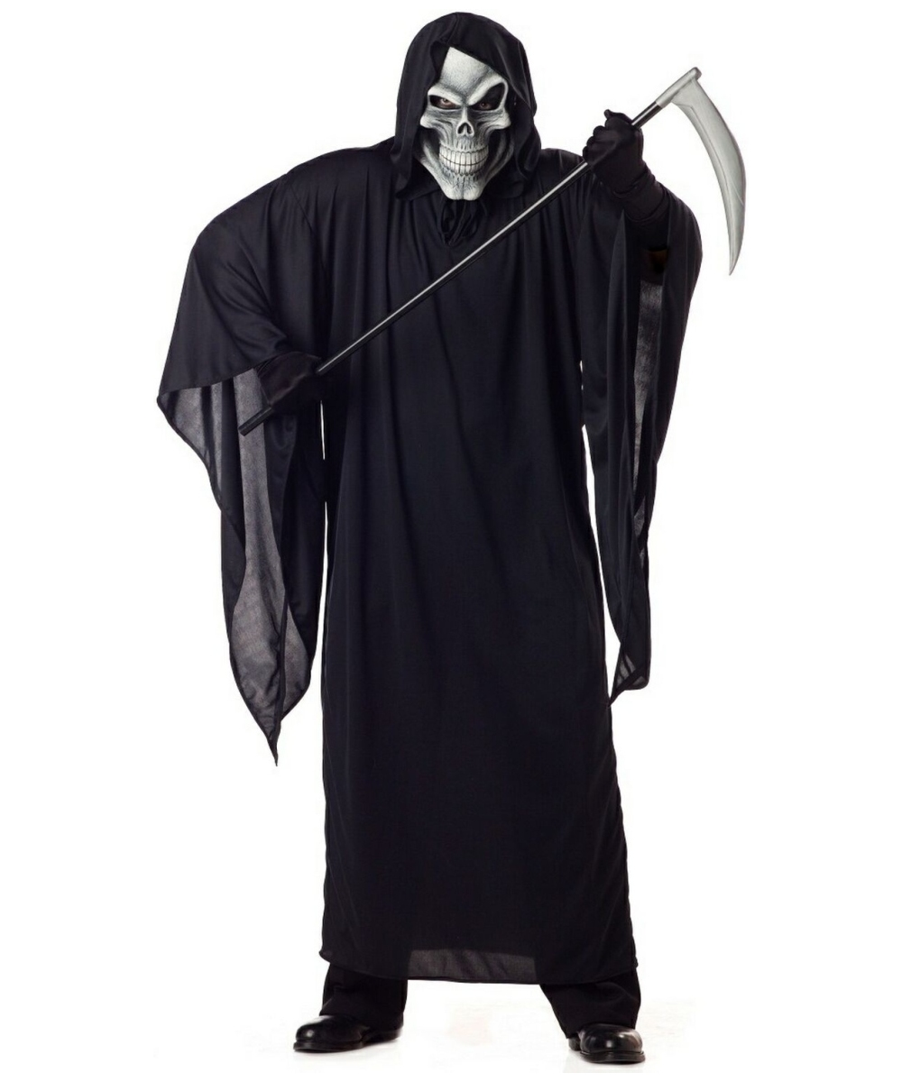 Grim Reaper Costume - Adult Plus Size Costume - Scary Halloween Costume at Wonder Costumes  sc 1 st  Halloween Costumes & Grim Reaper Costume - Adult Plus Size Costume - Scary Halloween ...