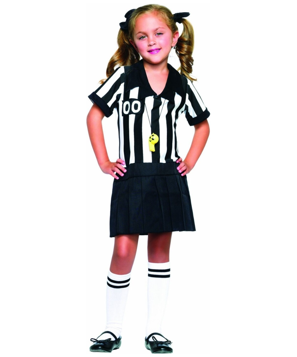 Referee Half Pint Kids Costume Girl Sports Costumes