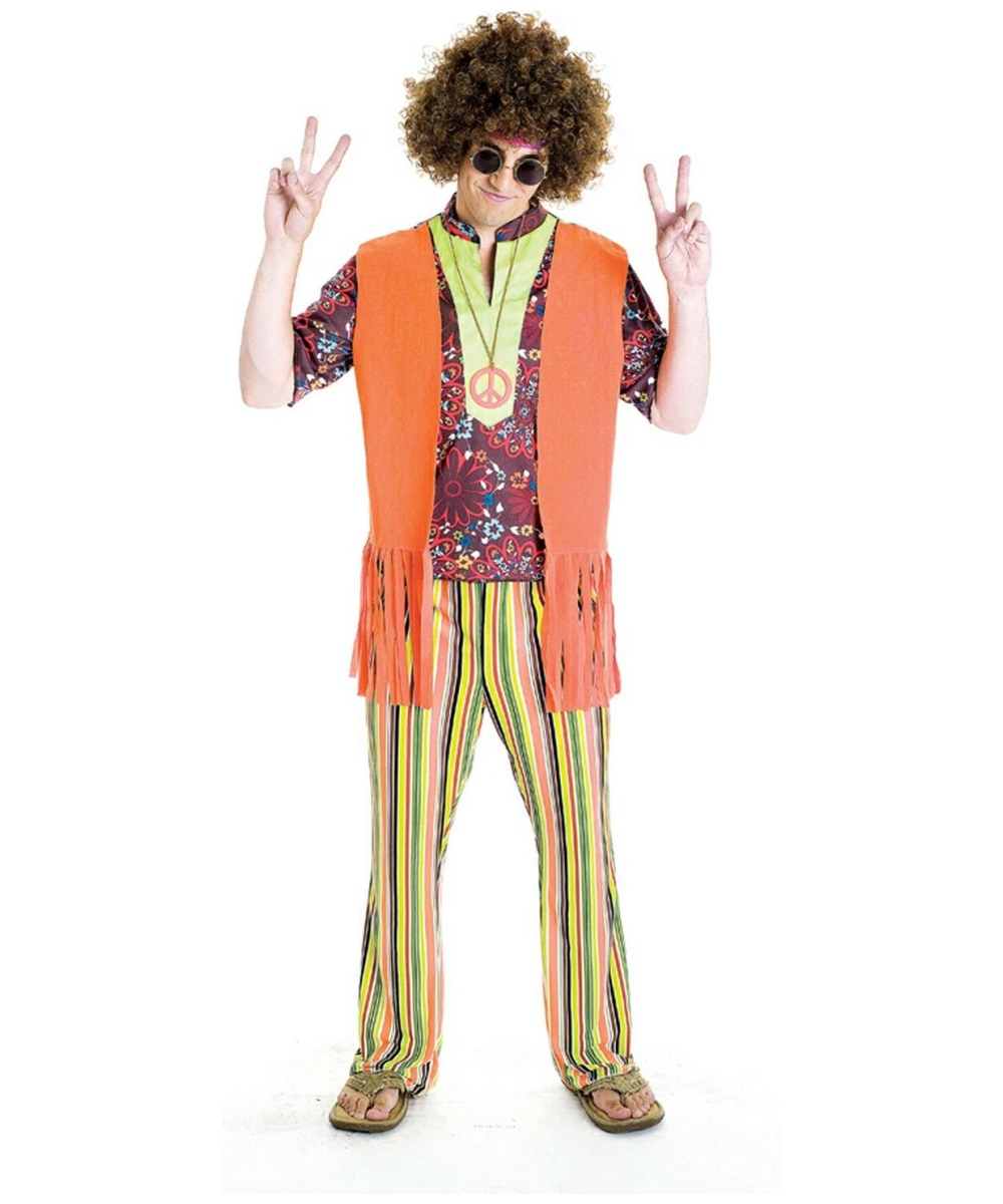 peaceful paul costume adult costume hippie halloween costume at wonder costumes