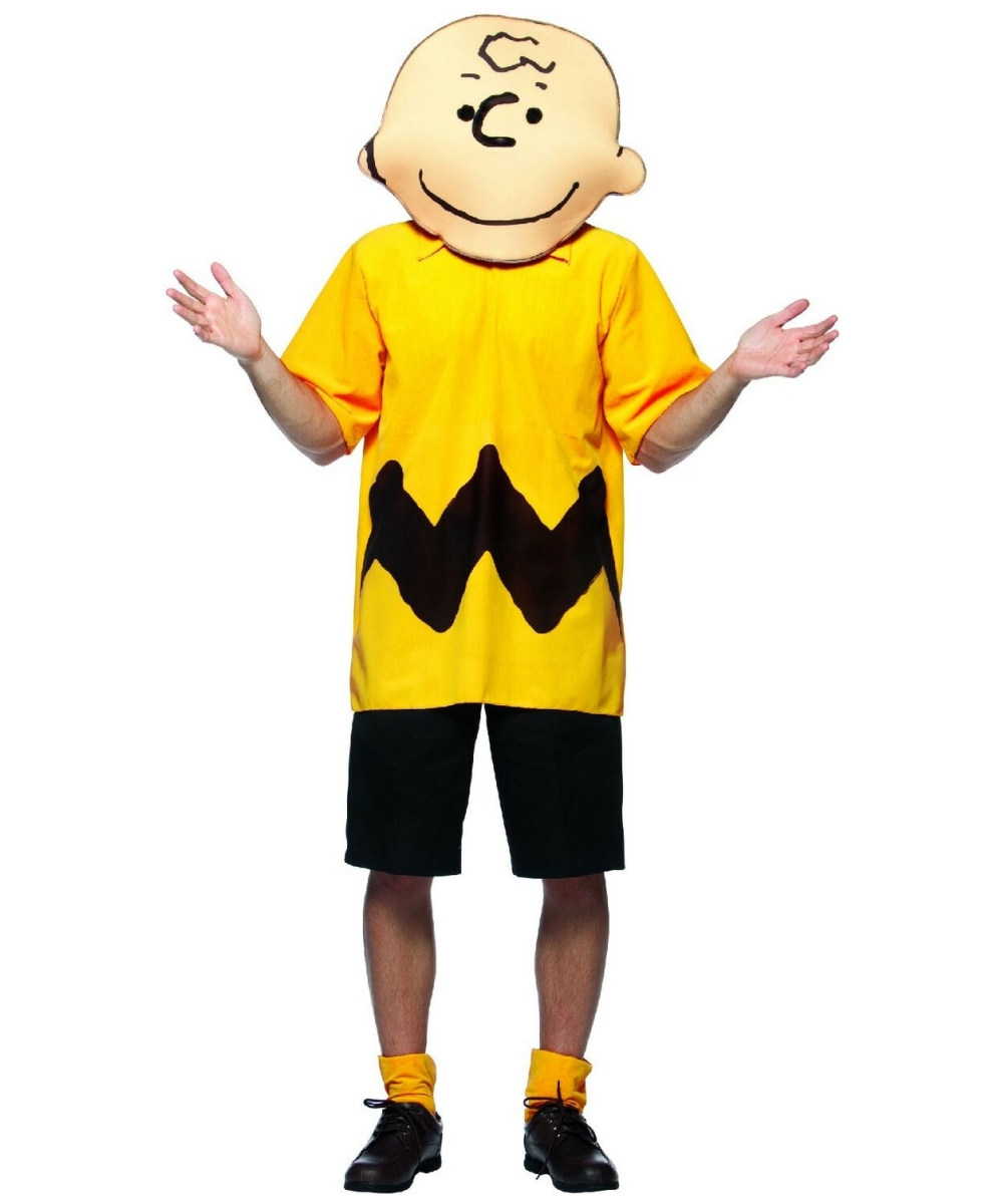 adult peanuts charlie brown costume - men costumes