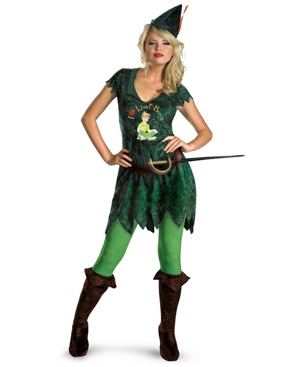 adult sassy peter pan disney costume women costumes. Black Bedroom Furniture Sets. Home Design Ideas