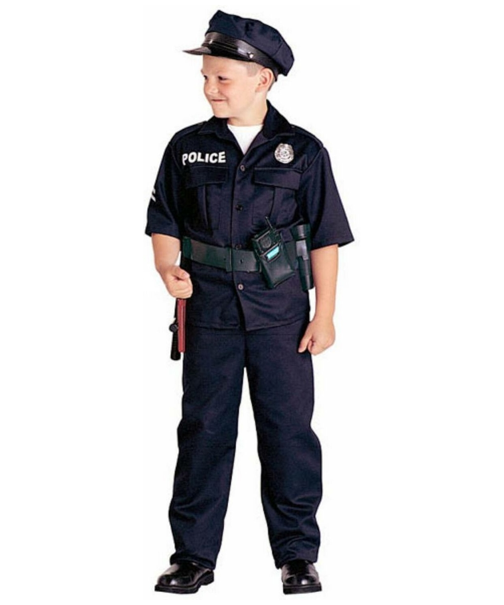 Police officer costume for kids boys officer costumes - Police officer child costume ...