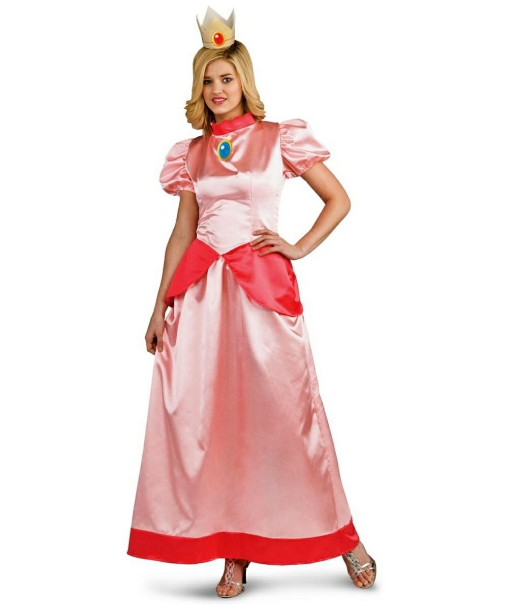 Mario Super Princess Peach Adult Costume Women Mario Costumes