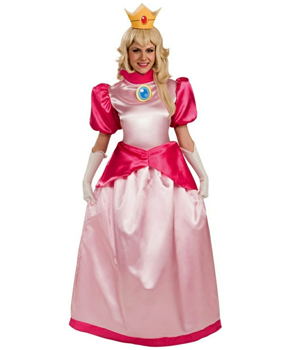 sc 1 st  Wonder Costumes & Adult Super Mario Princess Peach Costume - Women Mario Costumes