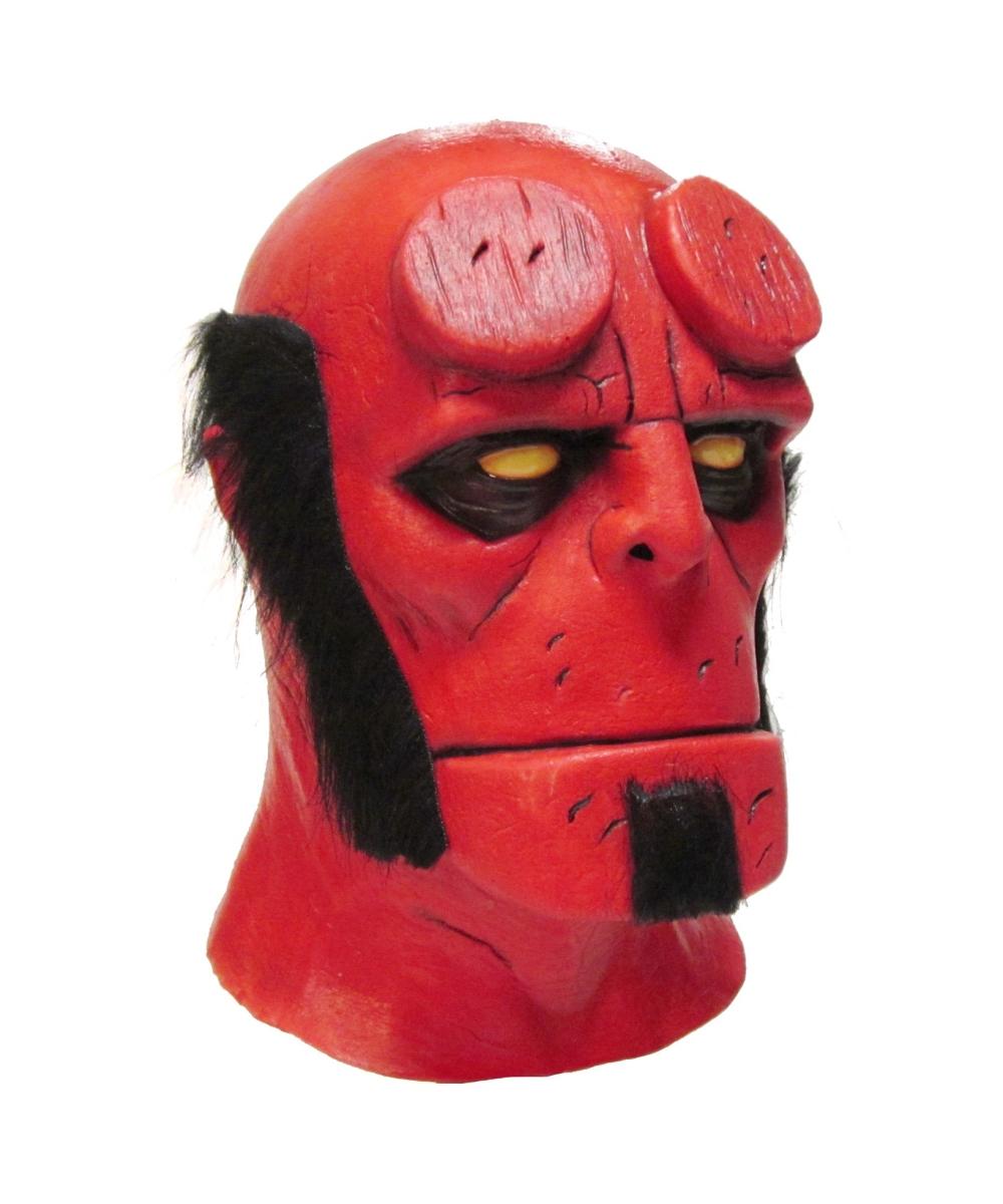 Adult Hellboy Latex Mask Men Costumes