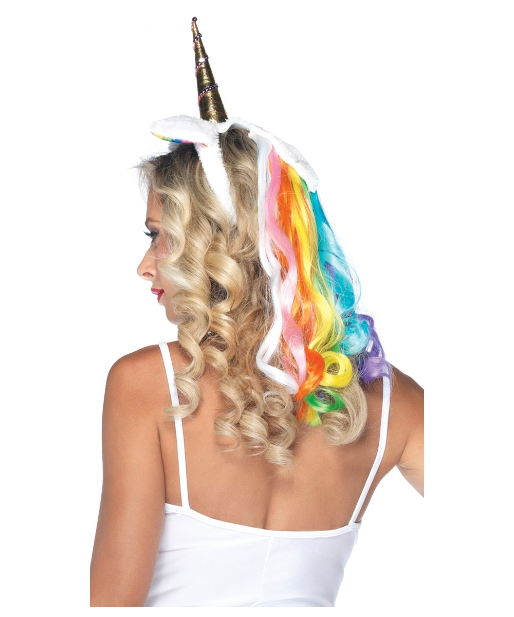 Adult Rainbow Unicorn Headband Adult Costumes