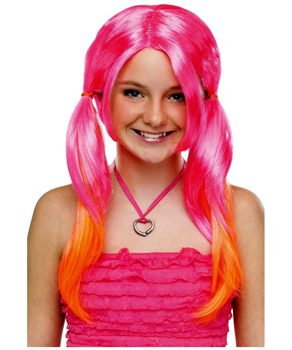 Pigtail Layer Ombre Kids Wig Assortment Girls Costume