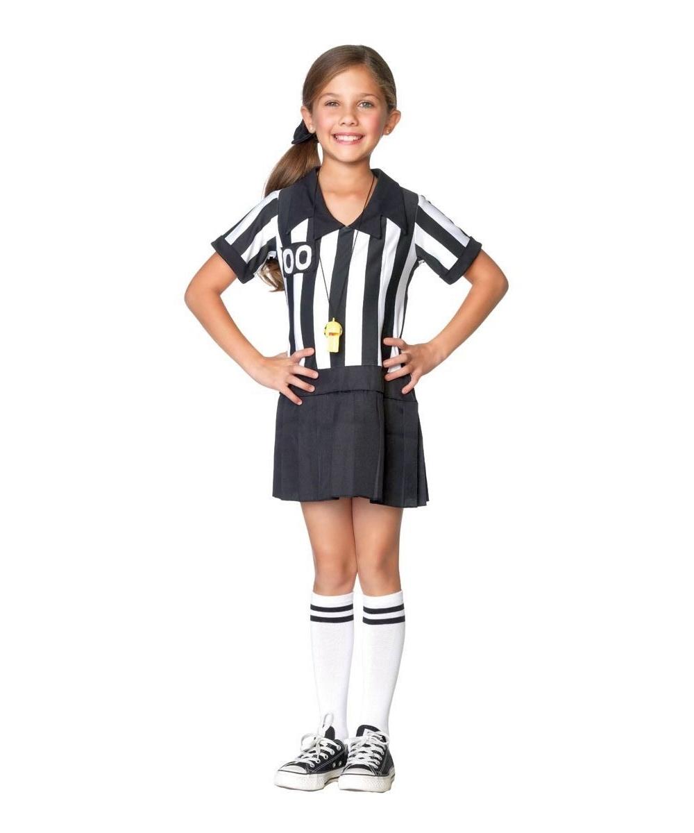 Referee Half Pint Kids Costume - Girl Sports Costumes