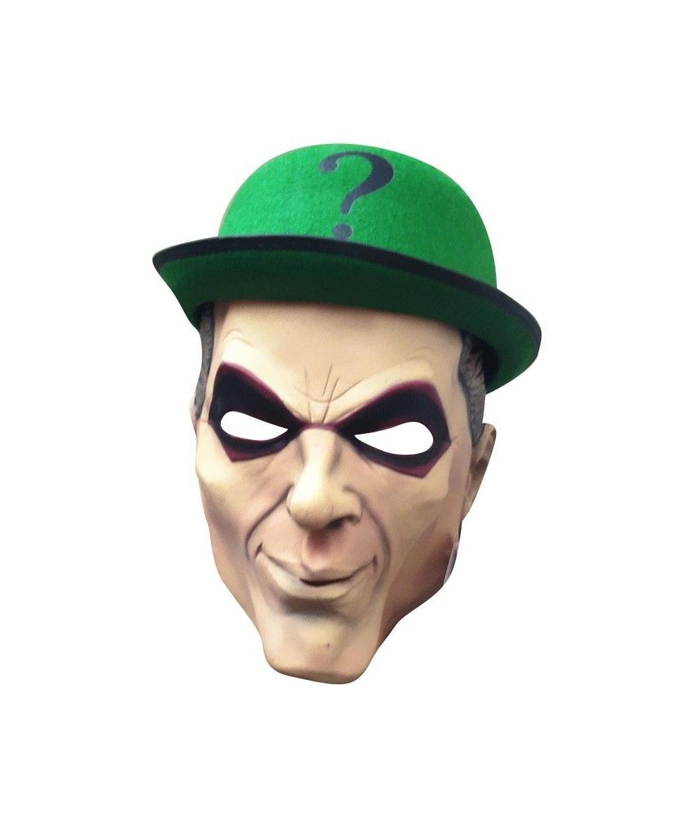 Adult Riddler Mask Halloween Costume Mask