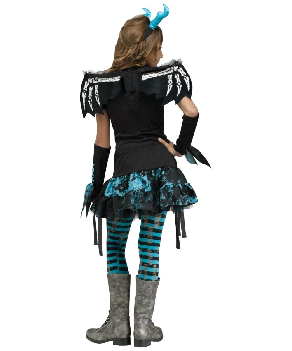 Gothic Dragon Fairy Girls Costume Deluxe  sc 1 st  Wonder Costumes & Gothic Dragon Fairy Girls Costume - Girls Costume