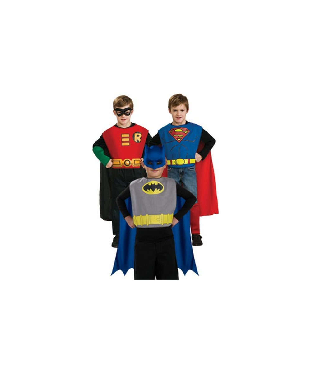 Dc Comics Action Trio Kids Costume Kit  sc 1 st  Wonder Costumes & Batman Dc Comics Action Trio Kids Costume Kit - Boy Superhero Costumes