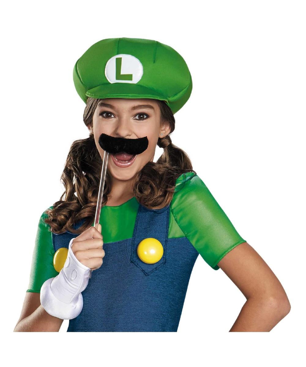 Super Mario Brothers Luigi Girl Tween Costume  sc 1 st  Wonder Costumes & Super Mario Brothers Luigi Girl Tween Costume - Video Game Costumes