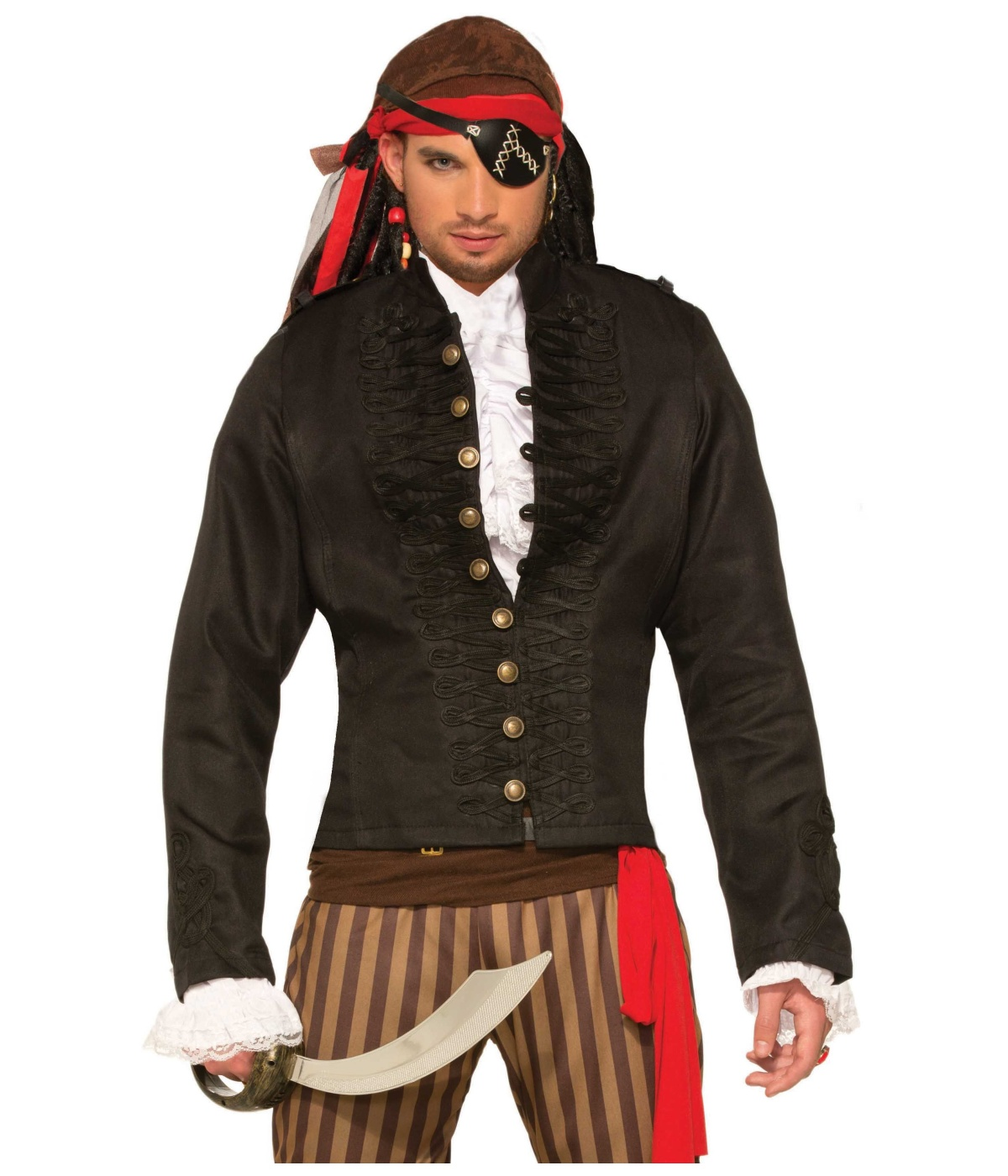 69def5bff54 Black Pirate Mens Jacket - Pirate Costumes