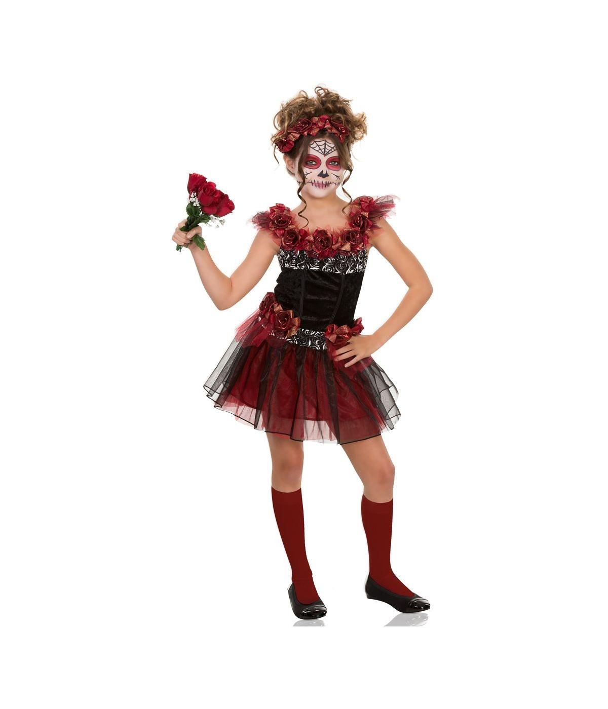 cda025183fa Day of the Dead Sugar Skull Girls Costume - International Costumes