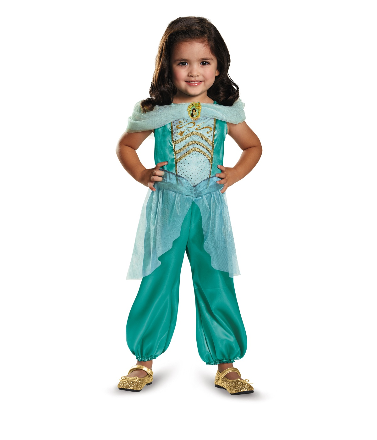 Disney Princess Jasmine Classic Girls Costume  sc 1 st  Wonder Costumes & Disney Princess Jasmine Classic Girls Costume - Princess Costumes