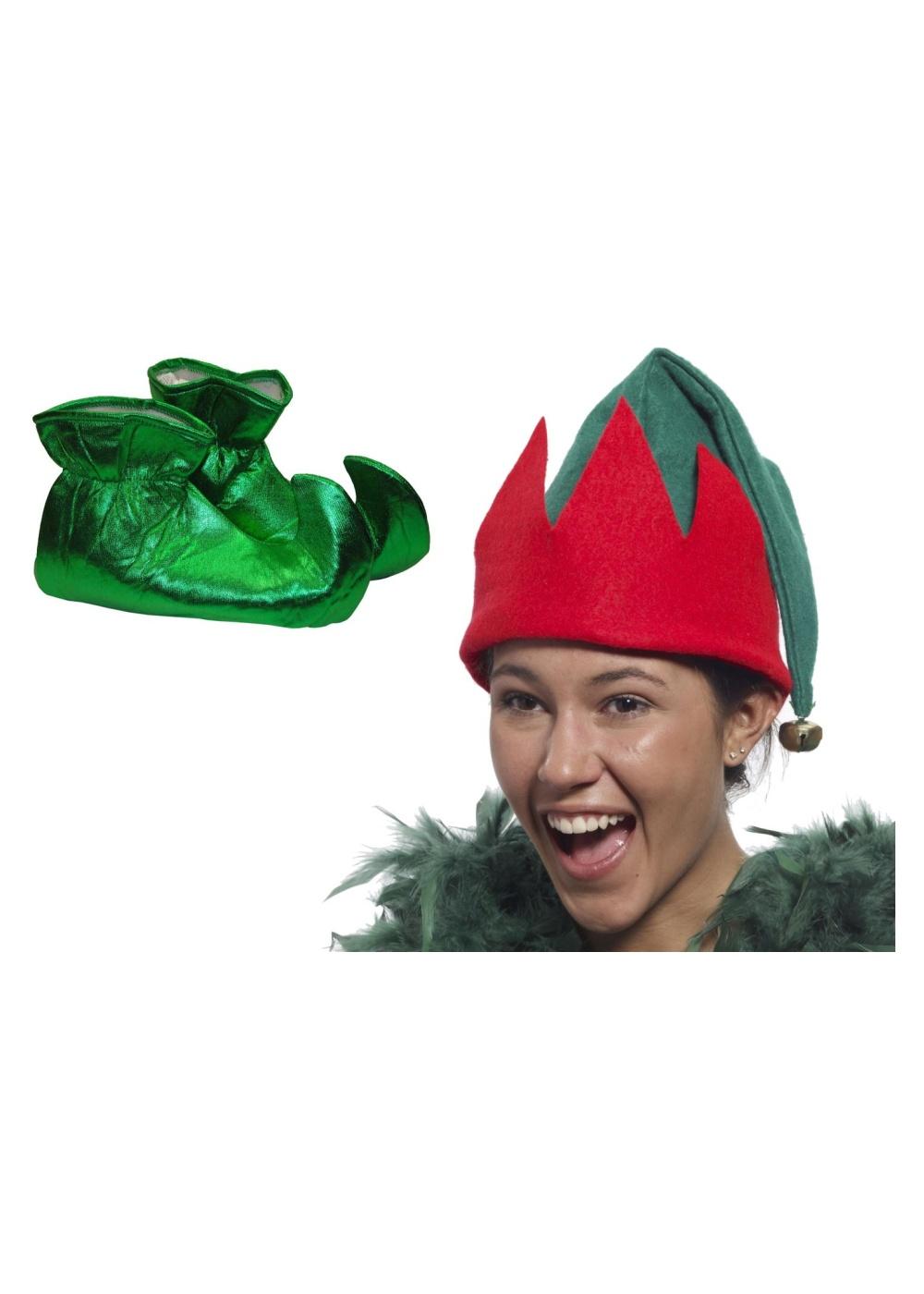 4a38fbf9a19 Elf Hat And Elf Shoes Set