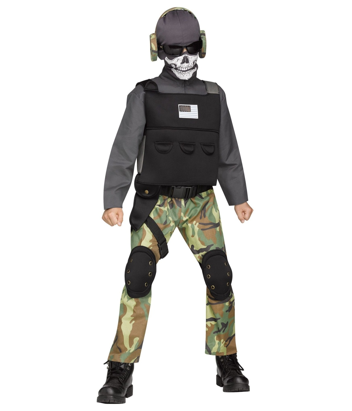 Fierce Skull Soldier Boys Costume General Category