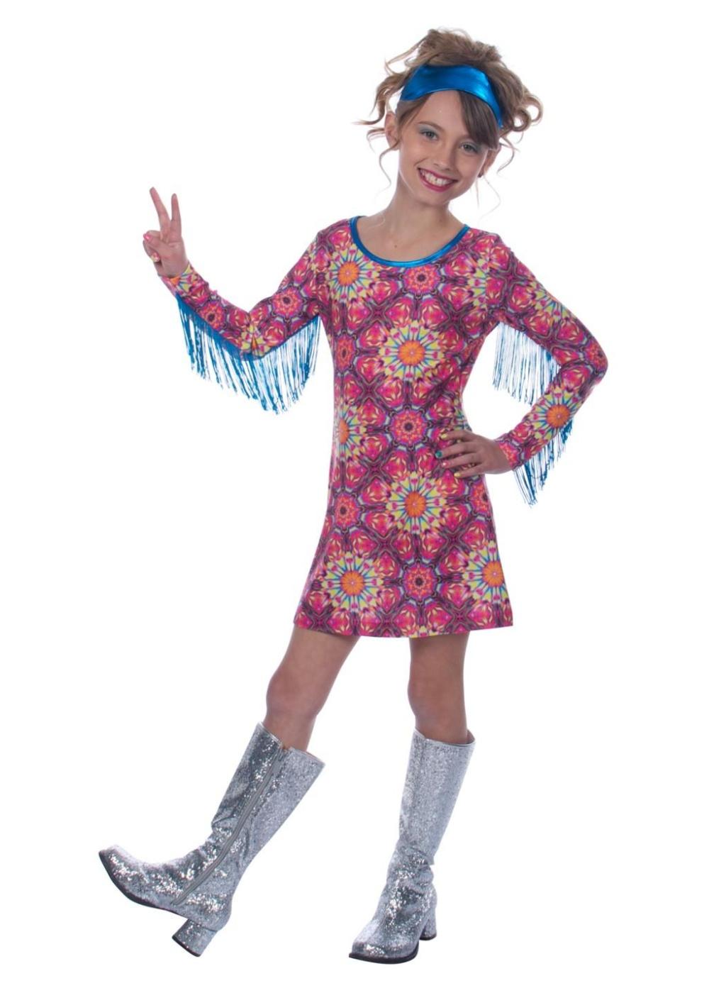 Hippie Girl Halloween Costume.Free Spirit Hippie Girl Halloween Costume 1970s Costumes