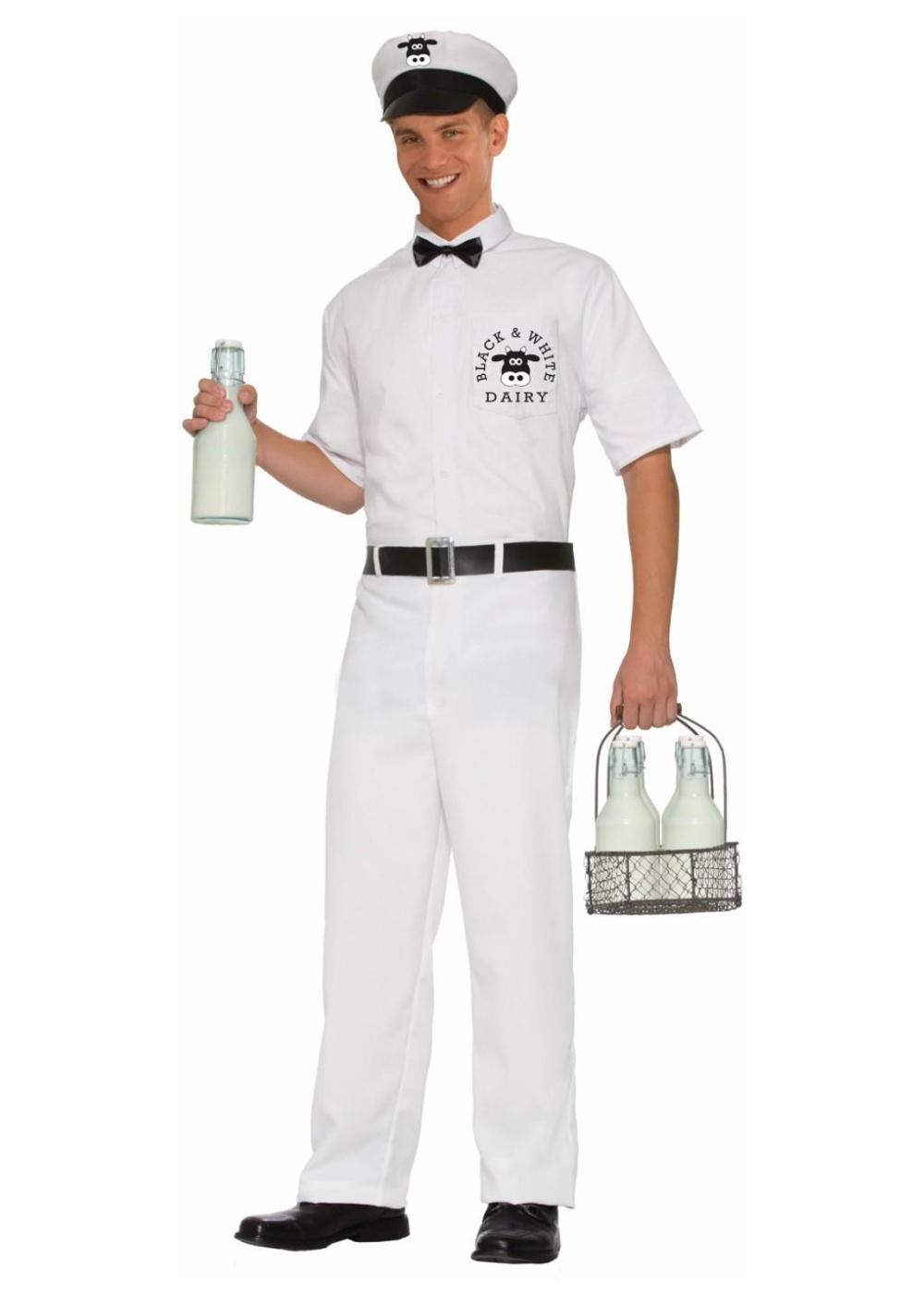 Mens Milkman Costume Professional Costumes