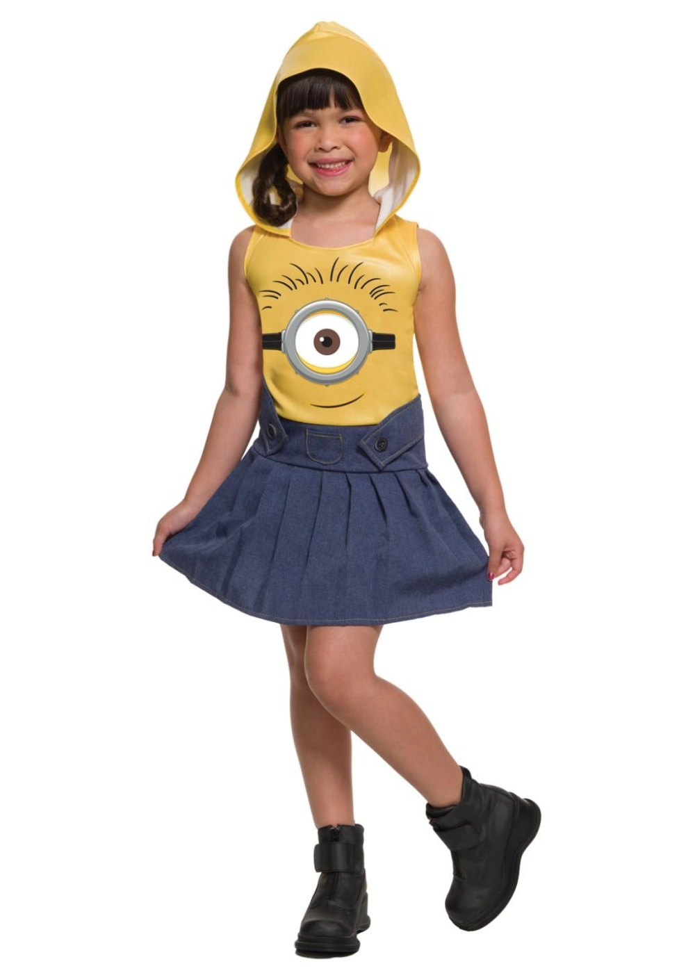 sc 1 st  Wonder Costumes & Minions Movie Minion Face Girls Dress Costume - Movie Costumes