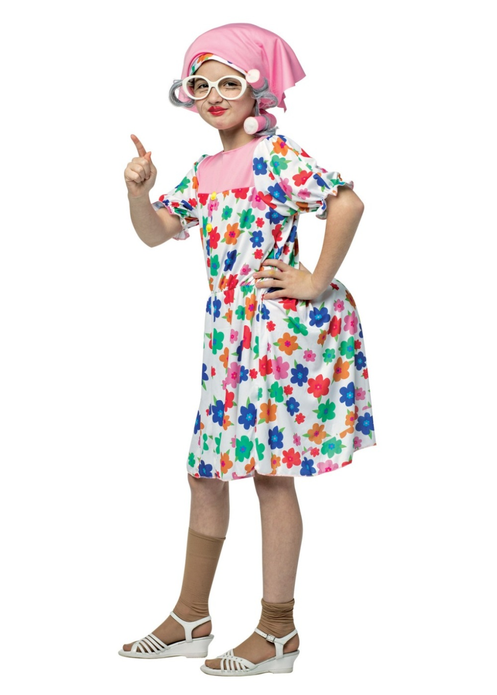 Old Maid Granny Girls Costume Funny Costumes