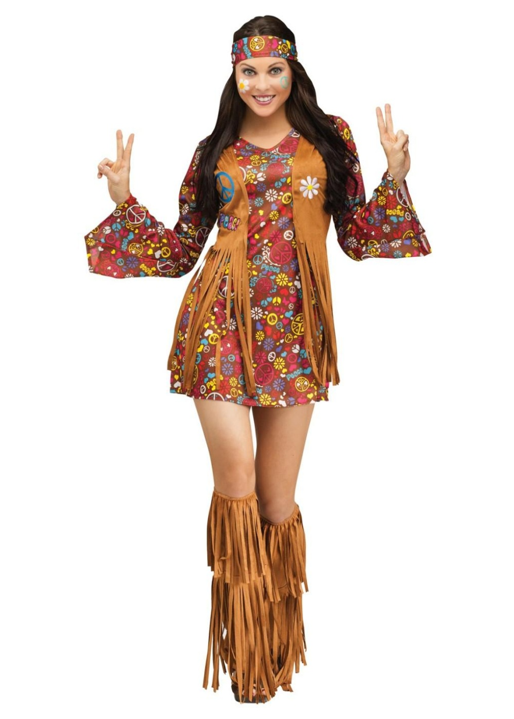 Peace And Love Hippie Women
