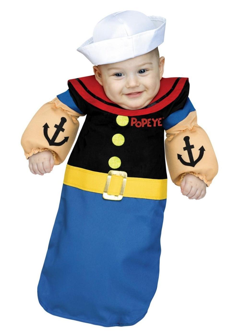 Popeye Baby Boy Bunting  sc 1 st  Wonder Costumes & Popeye Baby Boy Bunting - TV Show Costumes