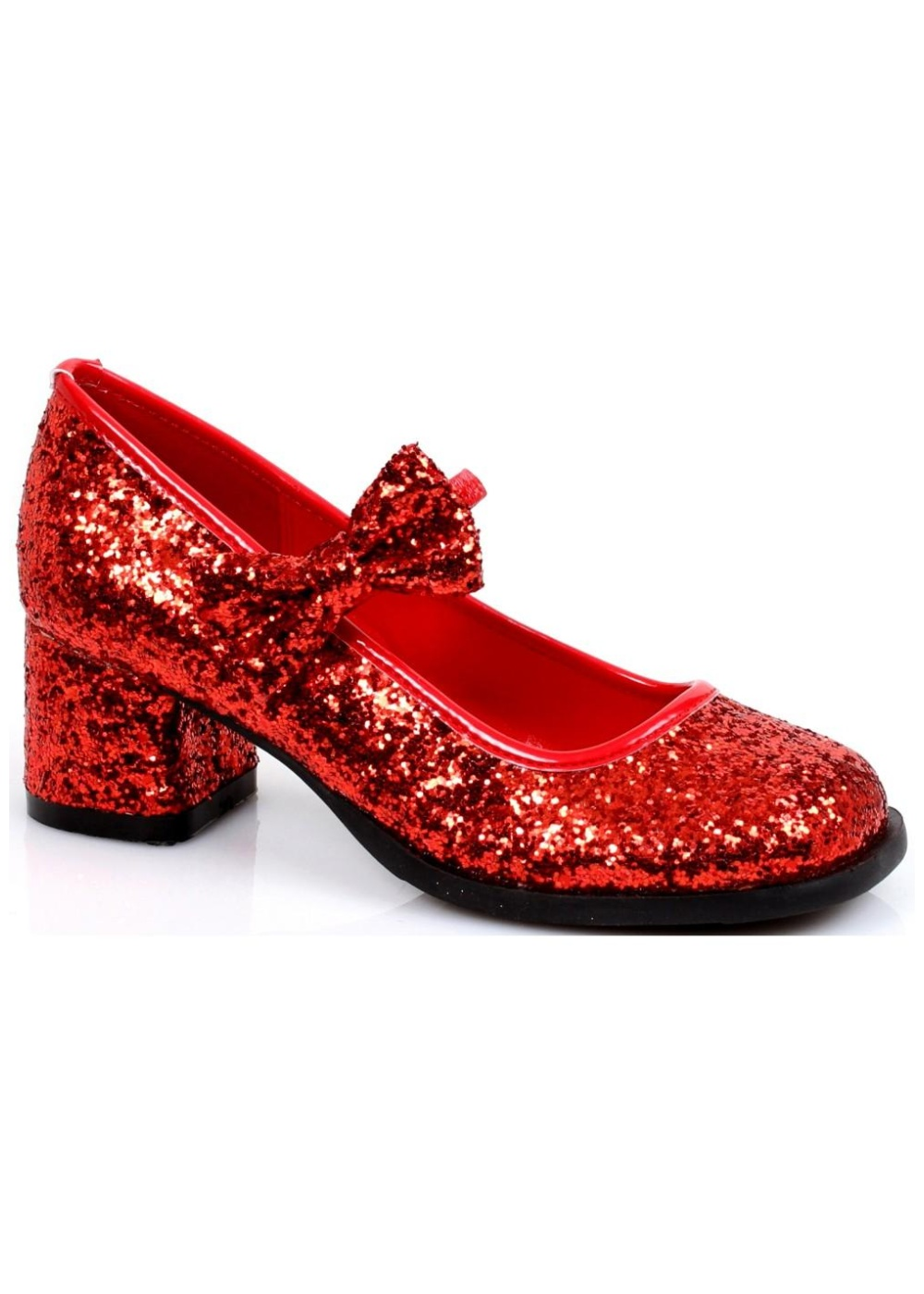 The sexy red sequin high heels are adorned in red sequins and feature a 5 inch sequin heel. The bottom of the shoe is black and features a no-slip grip. The interior of the shoe is red.