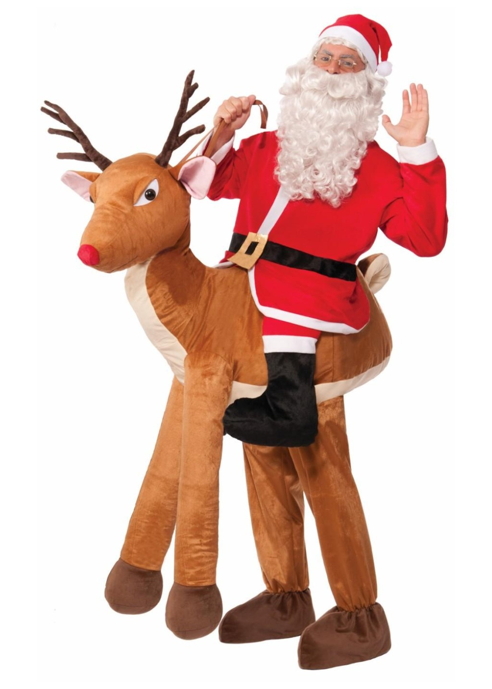 santa riding reindeer men costume christmas costumes. Black Bedroom Furniture Sets. Home Design Ideas