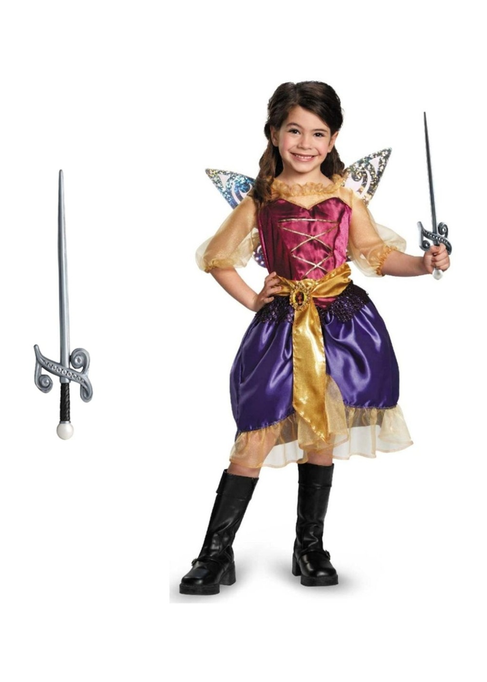 tinkerbell and the pirate fairy girls costume and sword set