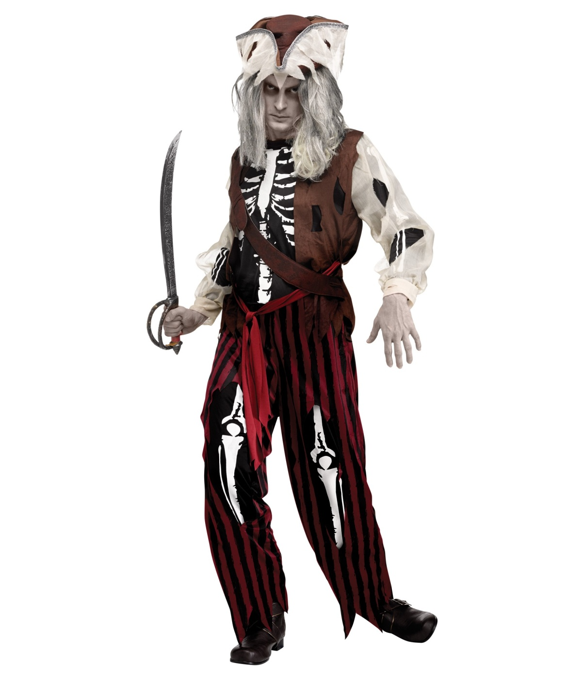 sc 1 st  Wonder Costumes & Zombie Pirate Ghost Mens Costume - Pirate Costumes