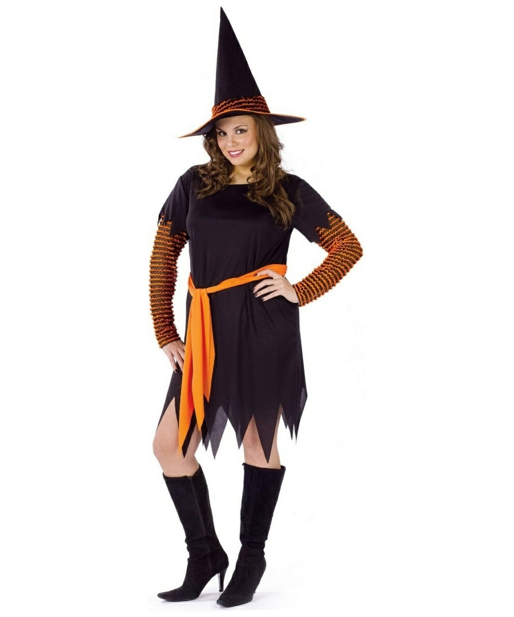 Pumpkin Patch Witch Adult Plus Costume - Witch Halloween Costume at Wonder Costumes  sc 1 st  Wonder Costumes & Pumpkin Patch Witch Adult Plus Costume - Witch Halloween Costume at ...